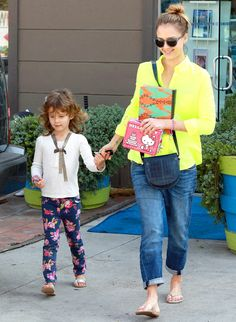 Honor Warren, 4, walked hand-in-hand with mom Jessica Alba after getting pedicures in West Hollywood Feb. 18.
