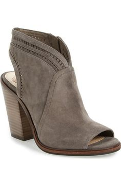 Vince Camuto 'Koral' Perforated Open Toe Bootie (Women) (Nordstrom Exclusive) available at #Nordstrom