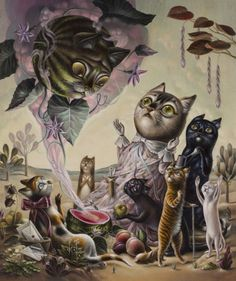 Mystical cats & smoking foxes: The fantasy animal world of Femke Hiemstra | Dangerous Minds