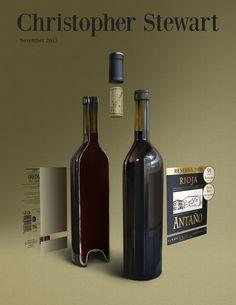 Antaño Deconstructed - November 2015 Portfolio Covers, Wine Art, November 2015, Deconstruction, All Art, Cover Art, Bottle, Glass, Drinkware