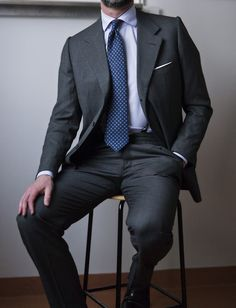 mostlyharmlessstuff:  Soporific Vintage bespoke birdseye suit by...