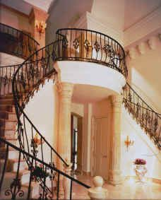 """""""Villa Serena"""" by John Henry double staircase another angle"""