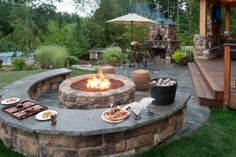 Great Family landscape - firepit perfect for kids & grownups - games on seatwalls - Pizza oven! www.paradiserestored.com
