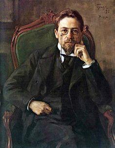 """""""Portrait of Anton Pavlovich Chekhov"""", 1898, by Osip Braz (Russian, 1873-1936)"""