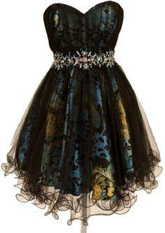 Zeilei Strapless Sweet 16 Short Prom Homecoming Babydoll Dress