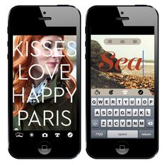 Put A Word On It! 6 Awesome Apps For Adding Text To Photos via @Brit Morin...yet another reason why I wish oh wish I had an iPad.