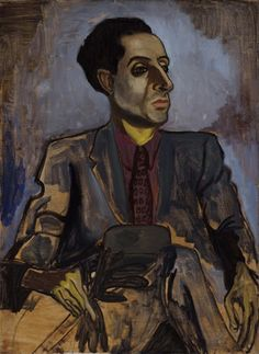 Sam (Sea Biscuit), oil on canvas, 36-1/8 x 26-1/8 in., 1940, by Alice Neel