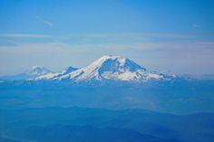 Mount Rainier from the Plane - Photography by Lyuba Ivleva