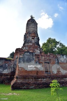 View of the old part of Wat Choeng Tha temple, Ayutthaya, Thailand, Asia. #getty #images #photo #photography #photograph #vincent #jary #www.vincent-jary.fr #travel #traveling #touristic #tourism