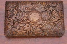 Sandalwood trinket box, antique with exquisite carving,Indian sub-continent | eBay