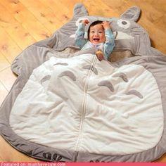 Totoro sleeping bag (adorable baby not included)