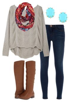 OOTD by prep-lover1 on Polyvore featuring Helmut Lang, J Brand, MIA and Kendra Scott