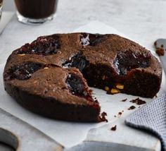 Microwave peanut butter and jam brownies