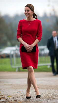 Kate Middleton style file: Catherine, Duchess of Cambridge, attends the East Angliaís Children's Hospices (EACH) Norfolk Capital Appeal launch at the Norfolk Showground in Norwich, 2014. Wearing Catherine Walker.