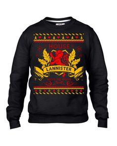 Game of Thrones hässliche Pullover, Haus Lannister hässliche Pullover Contest Partyspiel des Thrones Weihnachten Sweatshirt