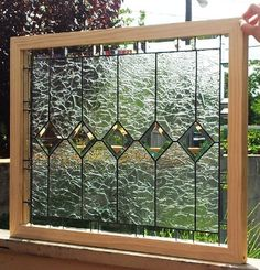 """Stained glass Window - """"Elegance & Privacy"""" (W-55) on Etsy, $247.00"""