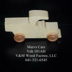 Handcrafted Wood Toy Pickup 101AH Non Toxic Finish by VMWoodFactree for $1.85