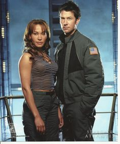 Stargate Atlantis Joe Flanigan as Sheppard Rachel Luttrell as Teyla 8 x 10 Photo | eBay
