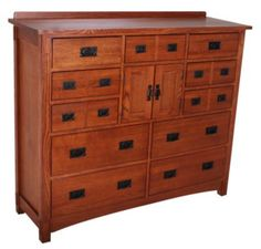 Love this one!!!    Homemakers Furniture: Mission Style Mule Dresser: Surewood Oak: Bedroom: Dressers & Mirrors