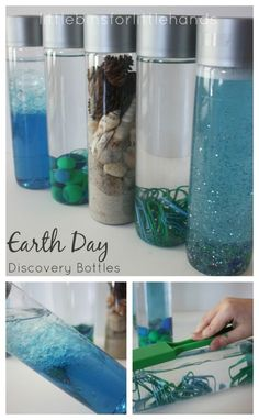 Earth Day Discovery Bottles - little bins for little hands