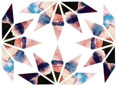 aquarel caleidoscope, shapes, geomatric