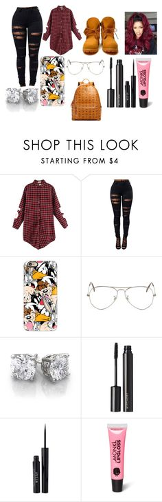 """Untitled #3554"" by mecca-tiana ❤ liked on Polyvore featuring Timberland, Casetify, Ray-Ban, Witchery, Stila, Monki and MCM"