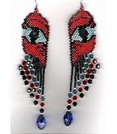Dragon's Eye Earrings Pattern by Charlotte Holley at Sova-Enterprises.com