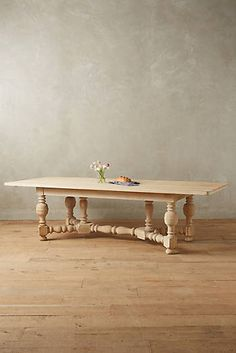 Sculpted Oak Dining Table