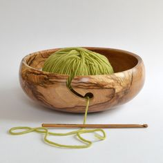Large Spalted Beech Wood Yarn Bowl