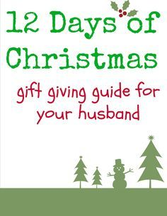 12 days of Christmas for husband Day 1: small gift Day 2: pairs ...