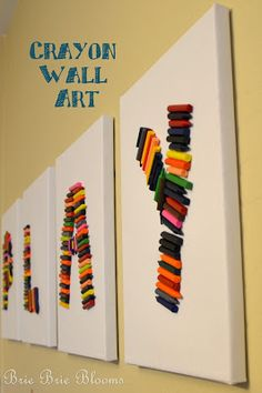 Crayon Wall Art - video tutorial on SheKnows TV Daily Dish | Brie Brie Blooms