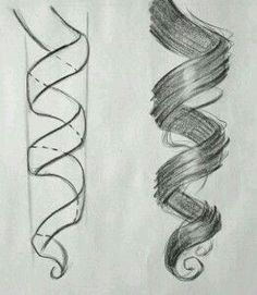 drawings of hair - Google Search