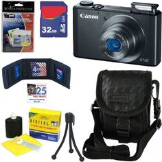 Canon PowerShot S110 12.1 MP Digital Camera with 5x Optical Image Stabilized Zoom (Black) + 6pc Bundle 32GB Accessory Kit by Canon. $449.95. The PowerShot S110 packs a world of advancements into its sleek, pocket-sized body. While the camera makes it easy enough for any user to achieve beautiful image quality, it gives serious photographers the tools they need to take their creative expression to the highest level, including a 12.1 Megapixel High-Sensitivity CMOS...