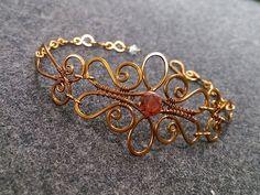 Wire bracelet - How to make wire jewelery 224 - YouTube