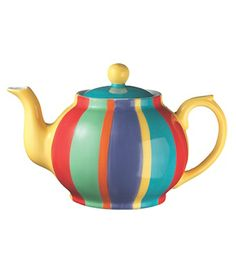 Ceramic Teapots | ceramic striped teapot
