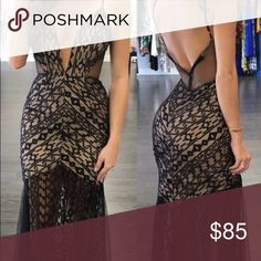 Bought this dress from Poshmark, sadly didn't fit Very beautiful in person, exactly like the picture. If you're a size S this is the dress for you! Two inches longer than 5'0. Bought from: above2392 Dresses Prom