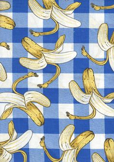 1993 Joe Boxer Bananas and Blue Check Novelty by billiesandbetties