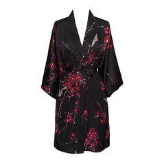 Cherry Blossom & Crane Kimono Robe