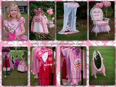 Life Songs Of A Busy Mom: Pink Princess Party: DIY canopy, princess throne, princess costumes, cheval mirror