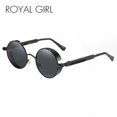 1c64bde4b7 Vintage Steampunk Men Round Sunglasses Coating Mirrored Women Sun Glasses  Gafas ss418