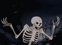 Image via We Heart It [animated] #alternative #cartoon #cool #dark #gif #goth #grunge #Halloween #hipster #indie #skeleton #tumblr