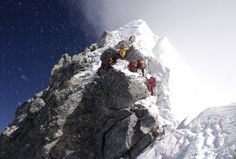 The Hillary Step -- Mount Everest -- Photo by Tom Claytor -- 17 may 2010