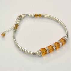 "Next on my ""to make"" list...Swarovski crystal cube bracelets"