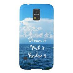 Dream it wish it Realize it quote sea design Samsung Galaxy S5 Case - available - $39.95