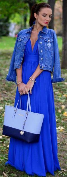 Blue Moon Maxi Dress Fall Inspo
