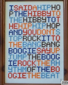 Sugar Hill Gang... in cross stitch.... :)