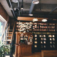 Cute book cafe in Seoul, South Korea