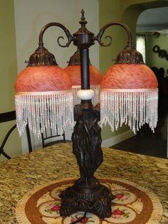 3 Goddess Goddesses Cherub Table Lamp