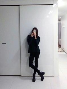 all black..