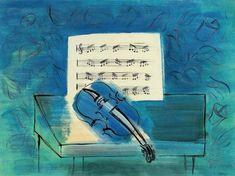 Canal~Art  « Le violon bleu » Tableau de Raoul Dufy -1946-